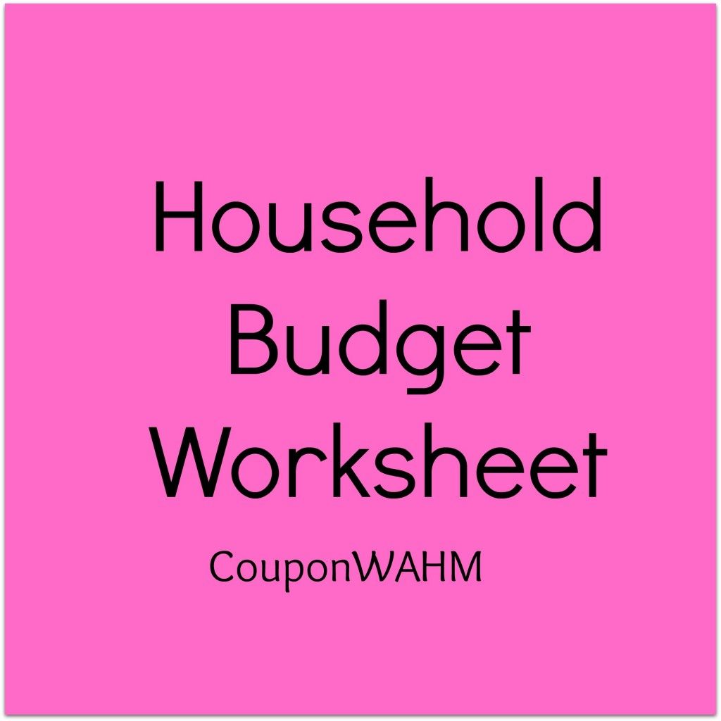 Free Household Budget Worksheet