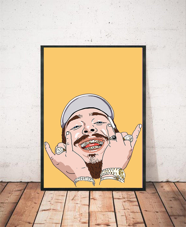 post malone poster print art decor wall