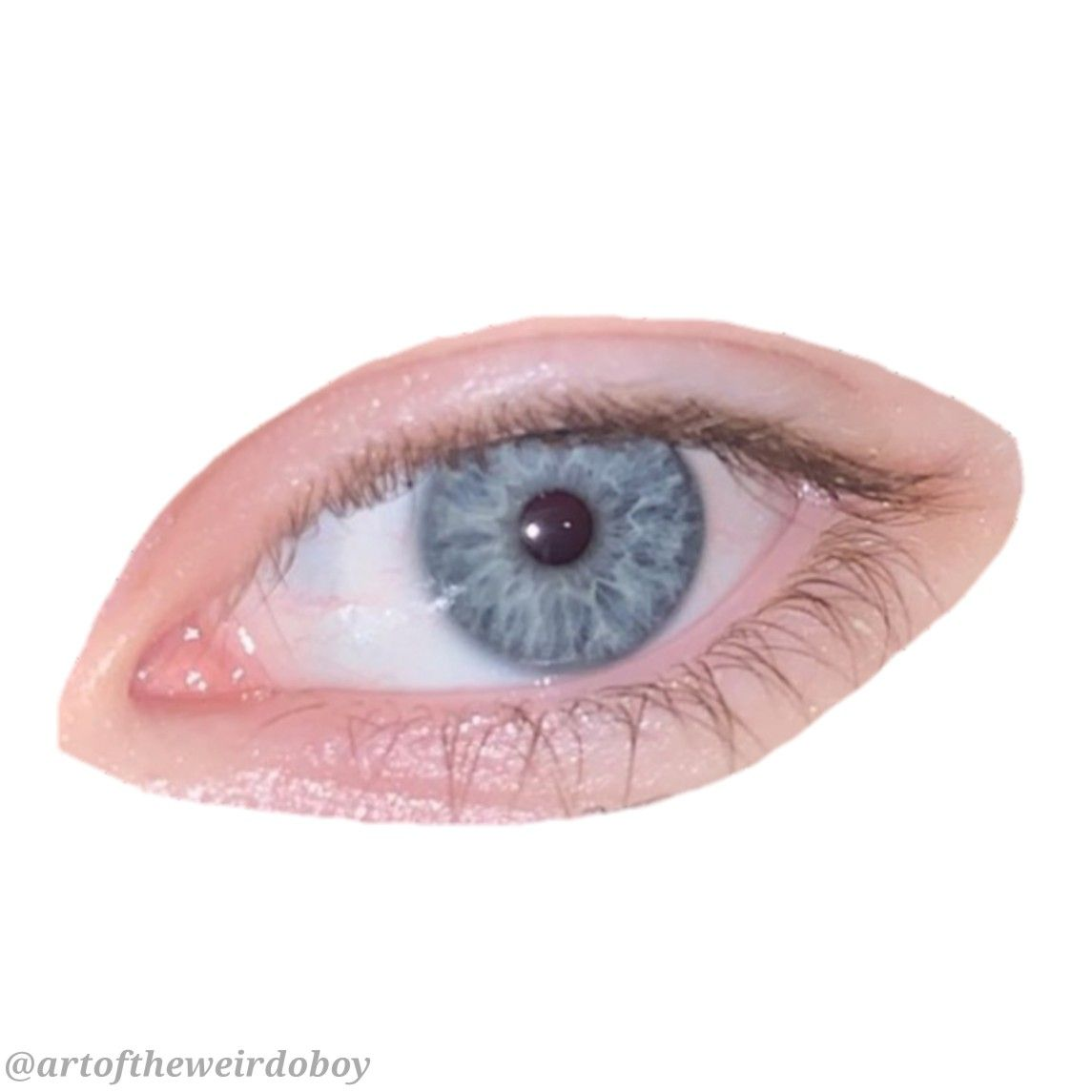 Blue Eye Polyvore Png 80s Aesthetic Eyes Png