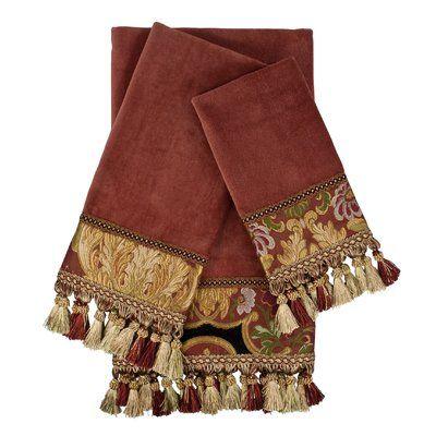 Austin Horn Classics Ashley Embellished 3 Piece 100 Cotton Towel