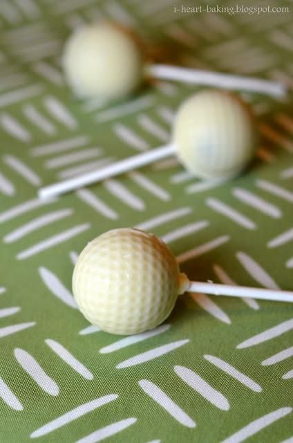 DIY Cake Pop Recipe : golf ball cake pops