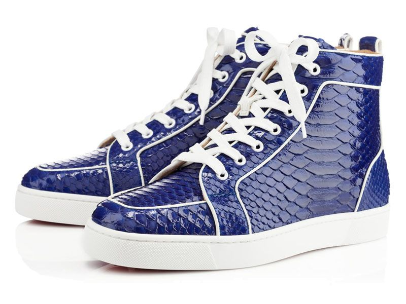 louboutin basket homme bleu