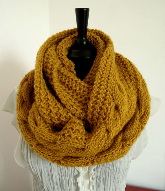 KNITTING PATTERN SCARF Chunky winter knit scarf pattern | Knitting ...
