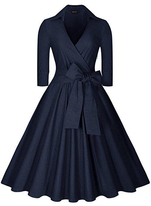 Miusol Femme Vintage cravate une ligne decontracte  Amazon.fr  Vêtements et  accessoires 9013ddabe32
