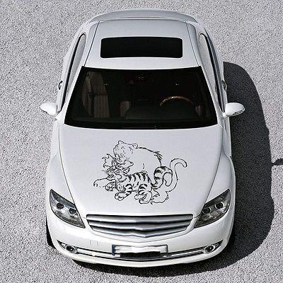 WILDCAT BEAST PREDATOR TIGER HOOD CAR VINYL STICKER DECALS CUTE DESIGN SV2689