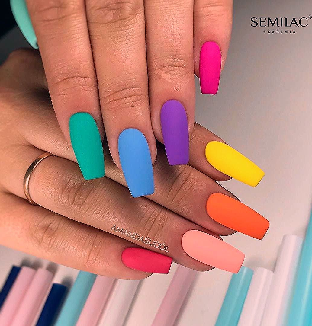 69 Outstanding Matte Coffin Nail Art Designs With Different Colours – Coffin nails designs