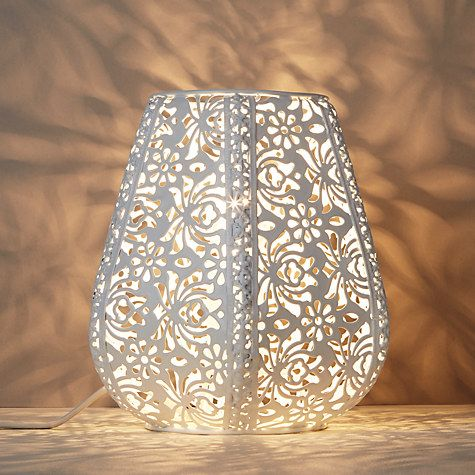 john lewis rosanna metal fretwork table lamp white john lewis