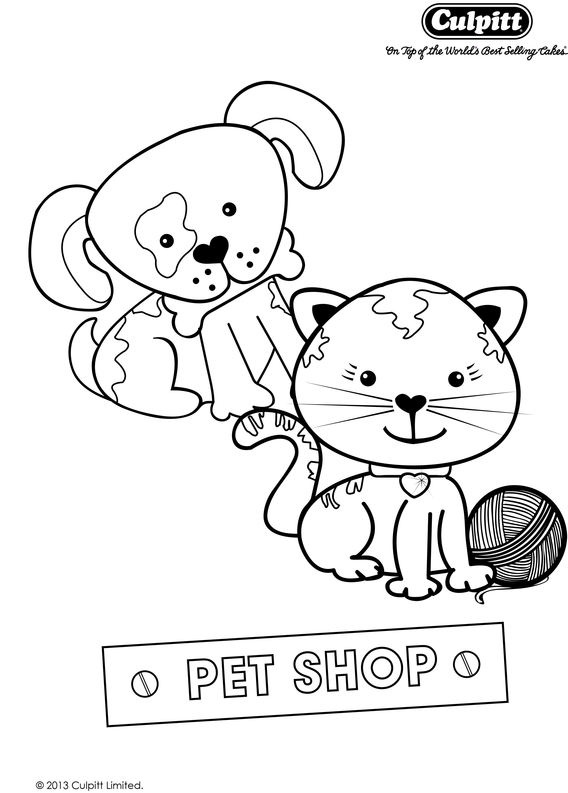 Get your free colour in Printable to match our Pet Shop party theme ...