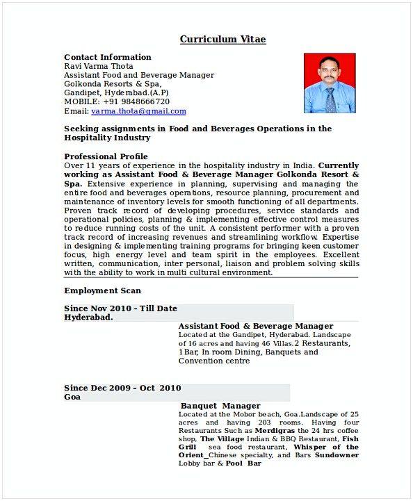 Restaurant Shift Manager Resume 1 , Hotel and Restaurant Management
