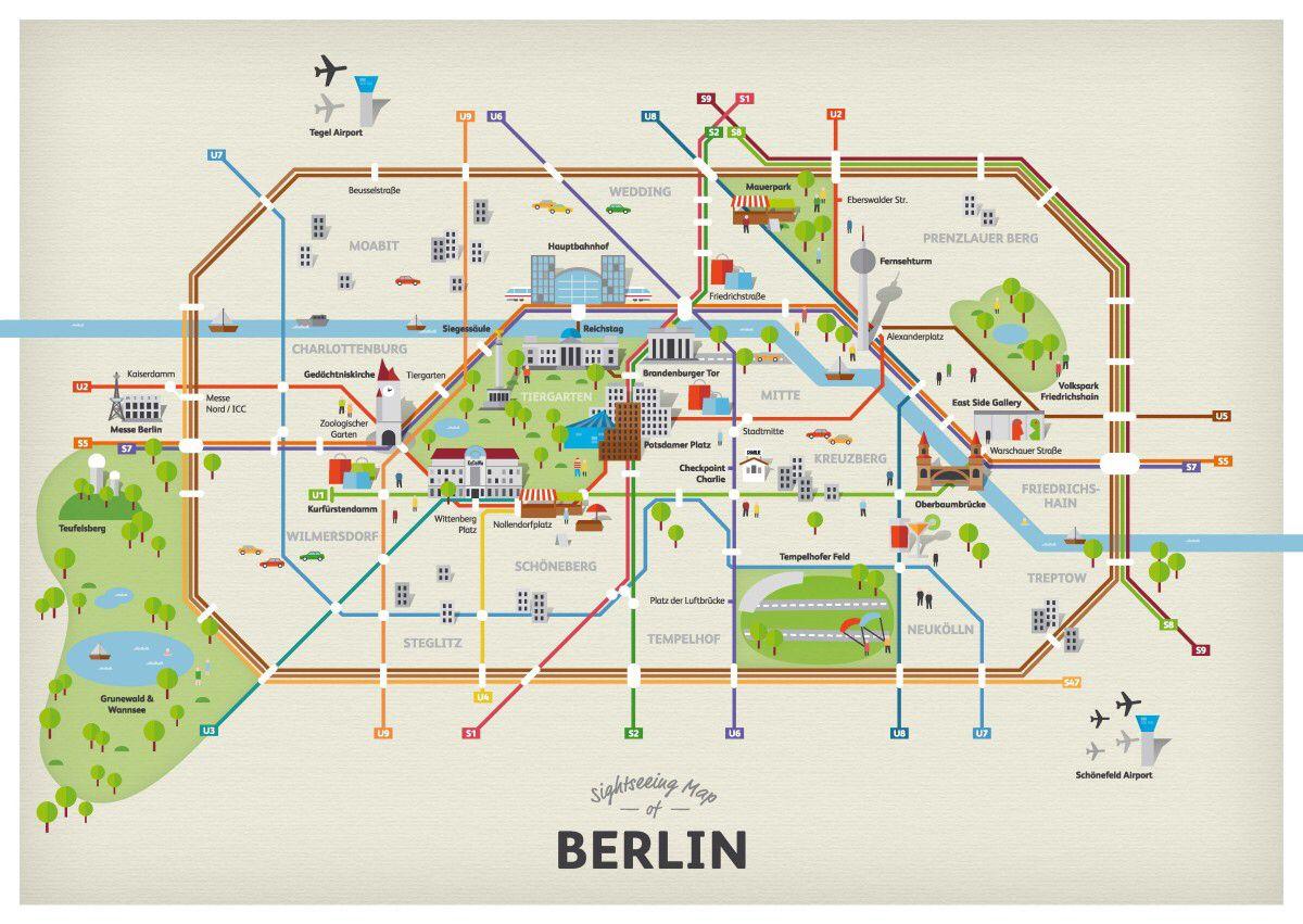 Map of Berlin districts | Berlin travel, Berlin, Berlin city