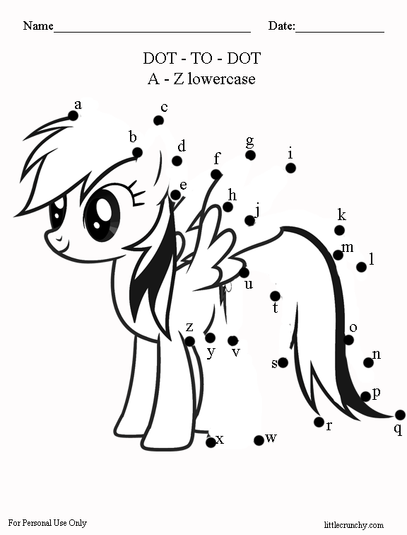 Free Worksheet My Little Pony Dot To Dot