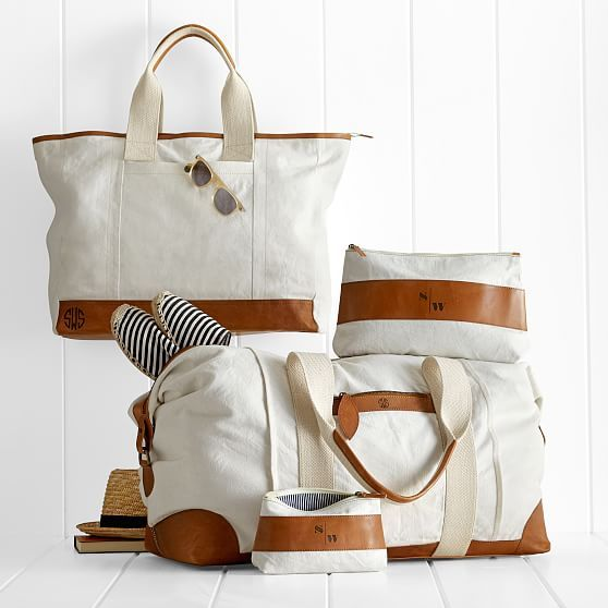 Love these canvas/leather bags http://rstyle.me/n/viawvnyg6 | Tan ...