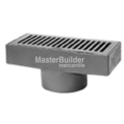 Zurn Z575 6 X 12 Medium Duty Gutter Drain Floor Drains Polished Nickel Medium