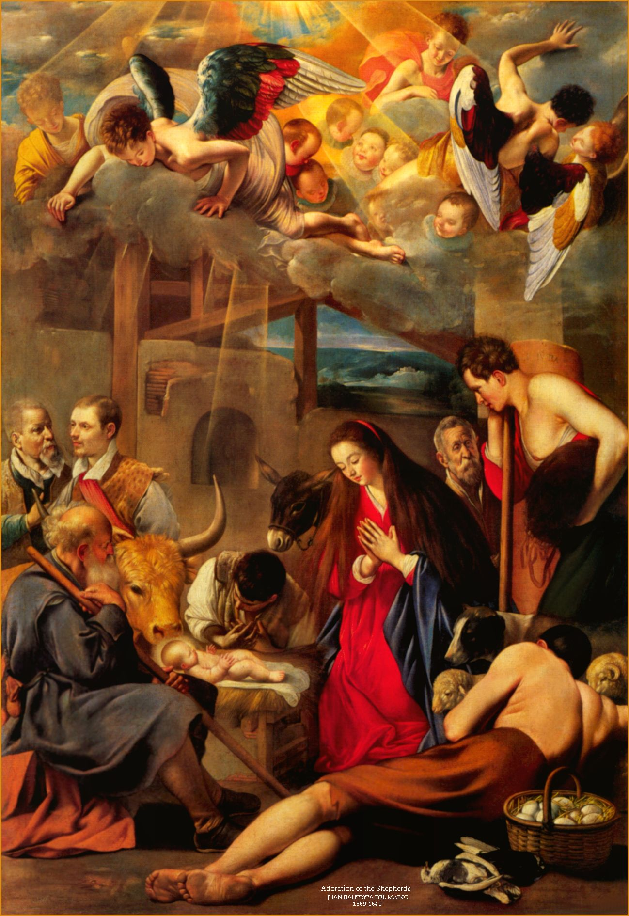 Adoración de los pastores - Fray Juan Bautista Maino, 1613 ...