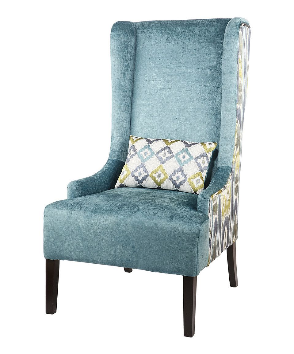 Super Blue Wing Chair By Ab Home Zulily Zulilyfinds Wing Creativecarmelina Interior Chair Design Creativecarmelinacom