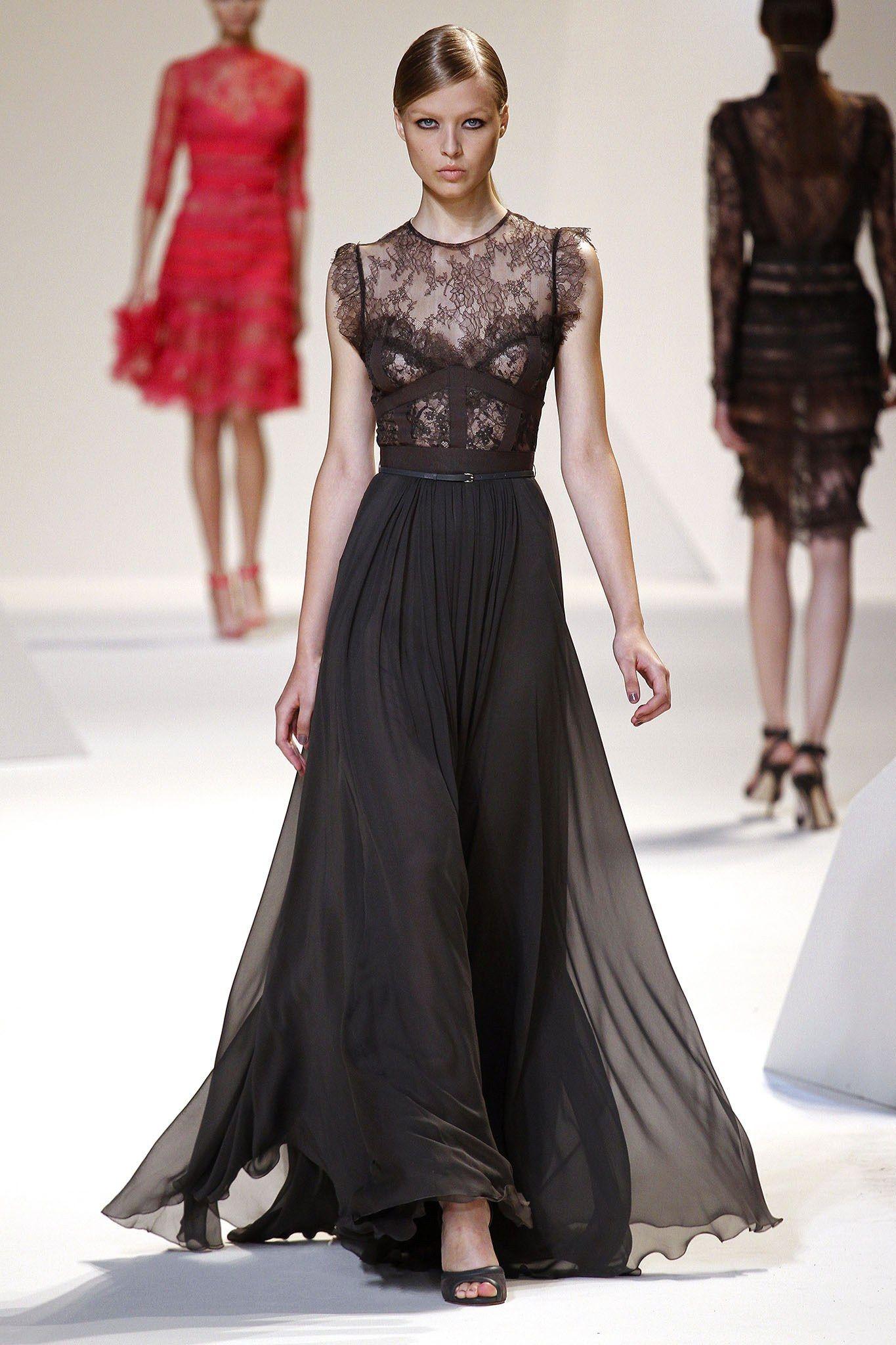 Elie Saab Spring 2013 Ready-to-Wear Fashion Show - Natasha Remarchuk (OUI)