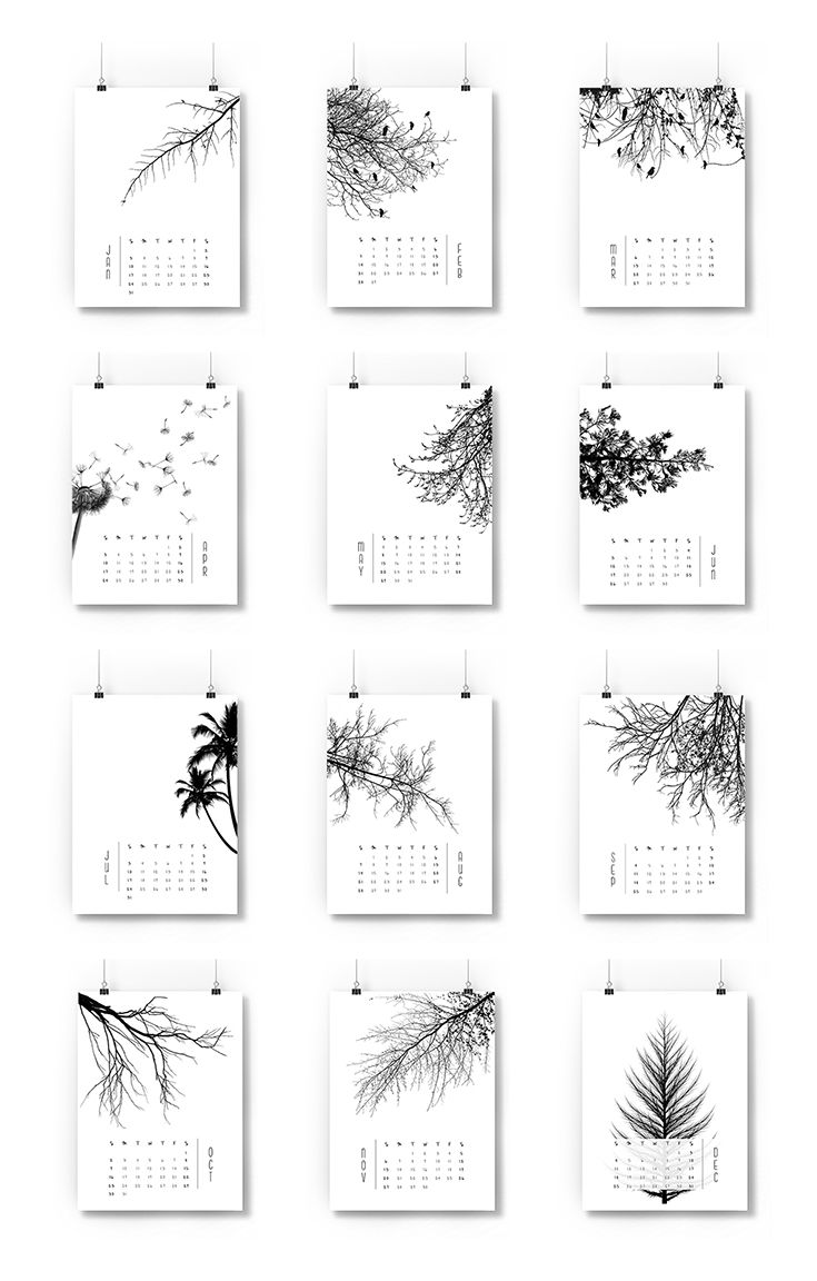 Office Calendar 2016 : Vq trees calendar vanessaquijano calendars