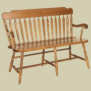 Redux Antique Benches Heritage Colonial Arrow Back Deacons Bench