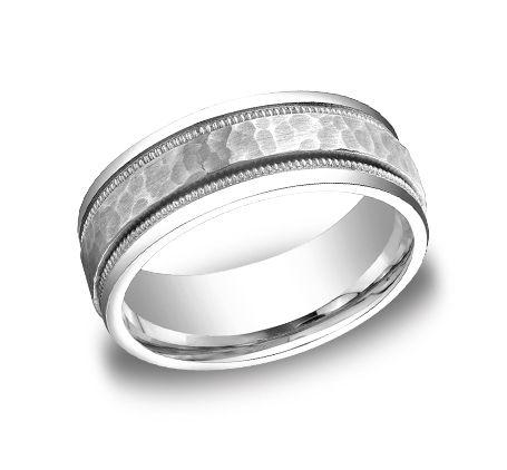Benchmark 14kt White Gold Mens Ring