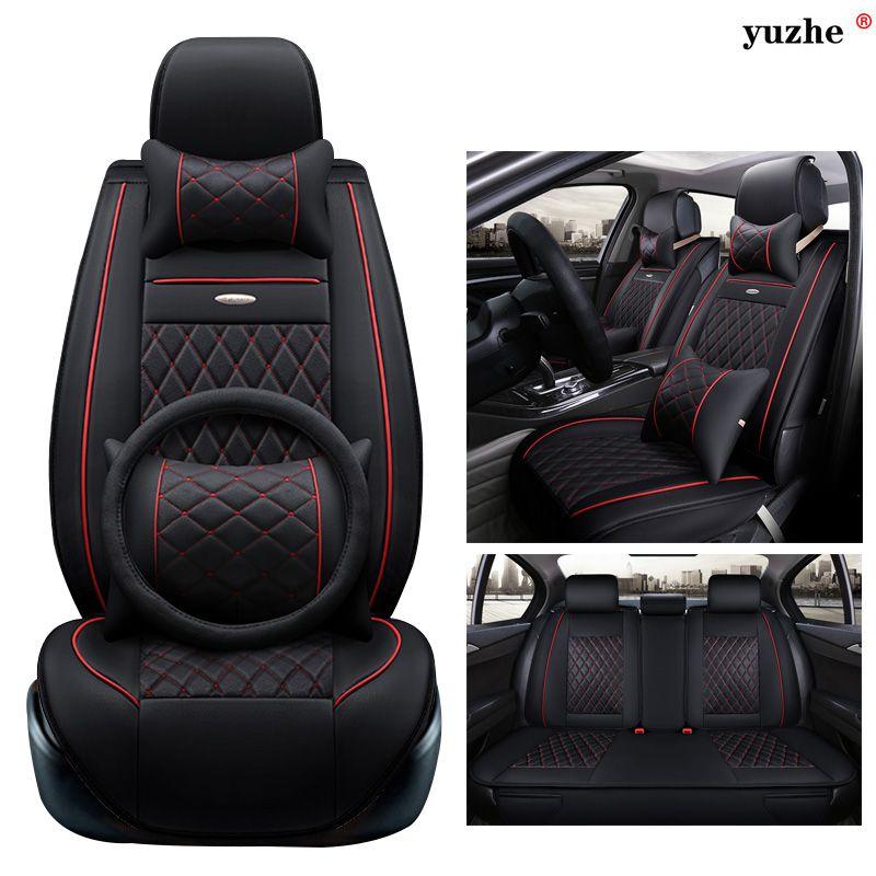 Us 119 70 Yuzhe Leather Car Seat Cover For Toyota Rav4 Prado Highlander Corolla Camry Prius Camry Coroll Leather Car Seat Covers Car Seats Car Upholstery