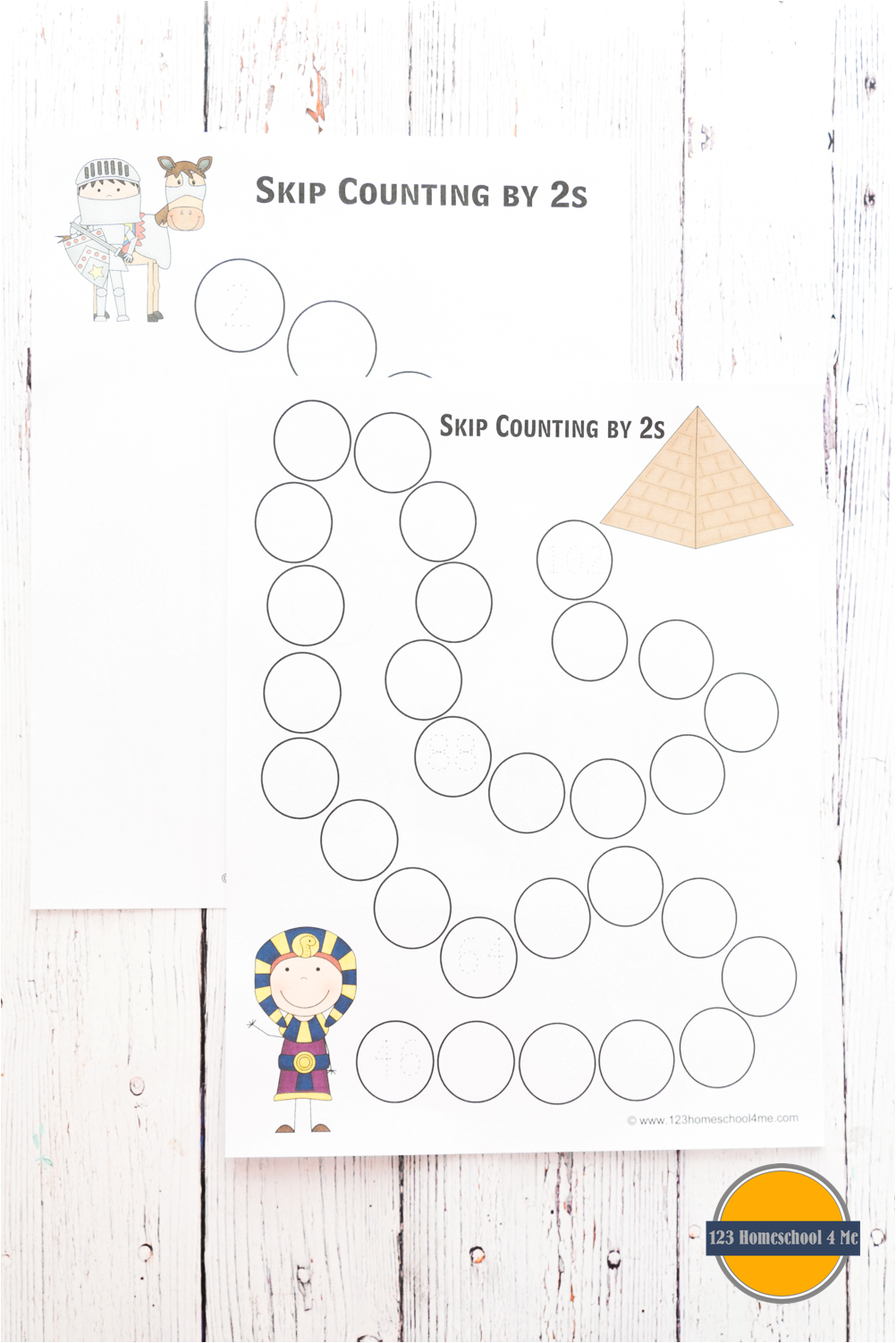 FREE Math Worksheets - Skip Counting Paths | Skip counting ...