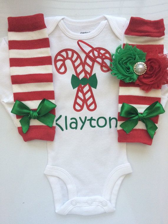 Baby Girl Christmas outfit Preemie Newborn and 3 by AboutASprout - Baby Girl Christmas Outfit- Preemie Newborn And 3 Months- Newborn