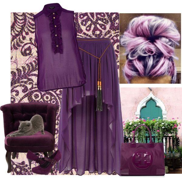 """""""deep purple"""" by bodangela ❤ liked on Polyvore"""