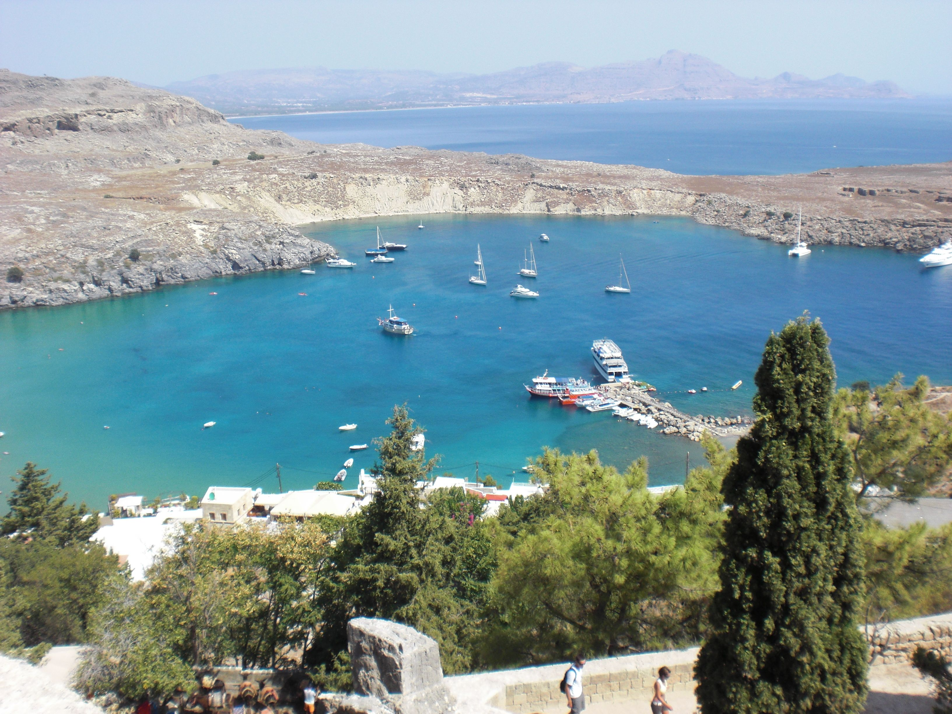 View from Lindos in Rhodes/Greece.