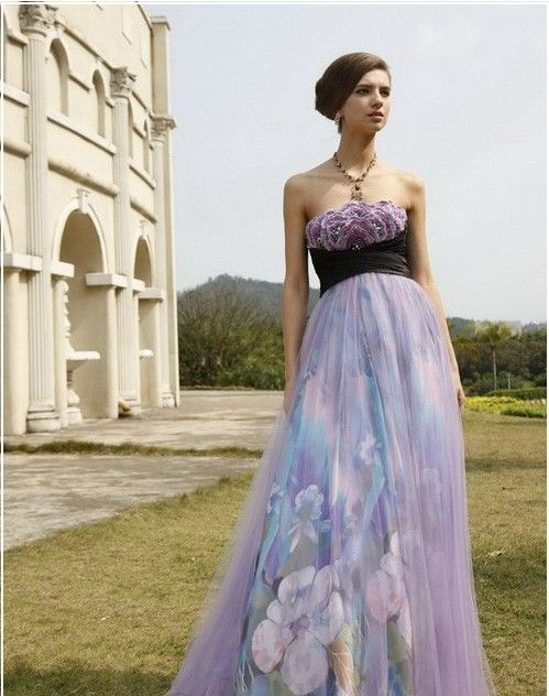 Feminine Light Purple Wedding Dress - http://casualweddingdresses.net/purple-wedding-dress-go-purplish-on-your-wedding-day-on-a-purple-wedding-dress/