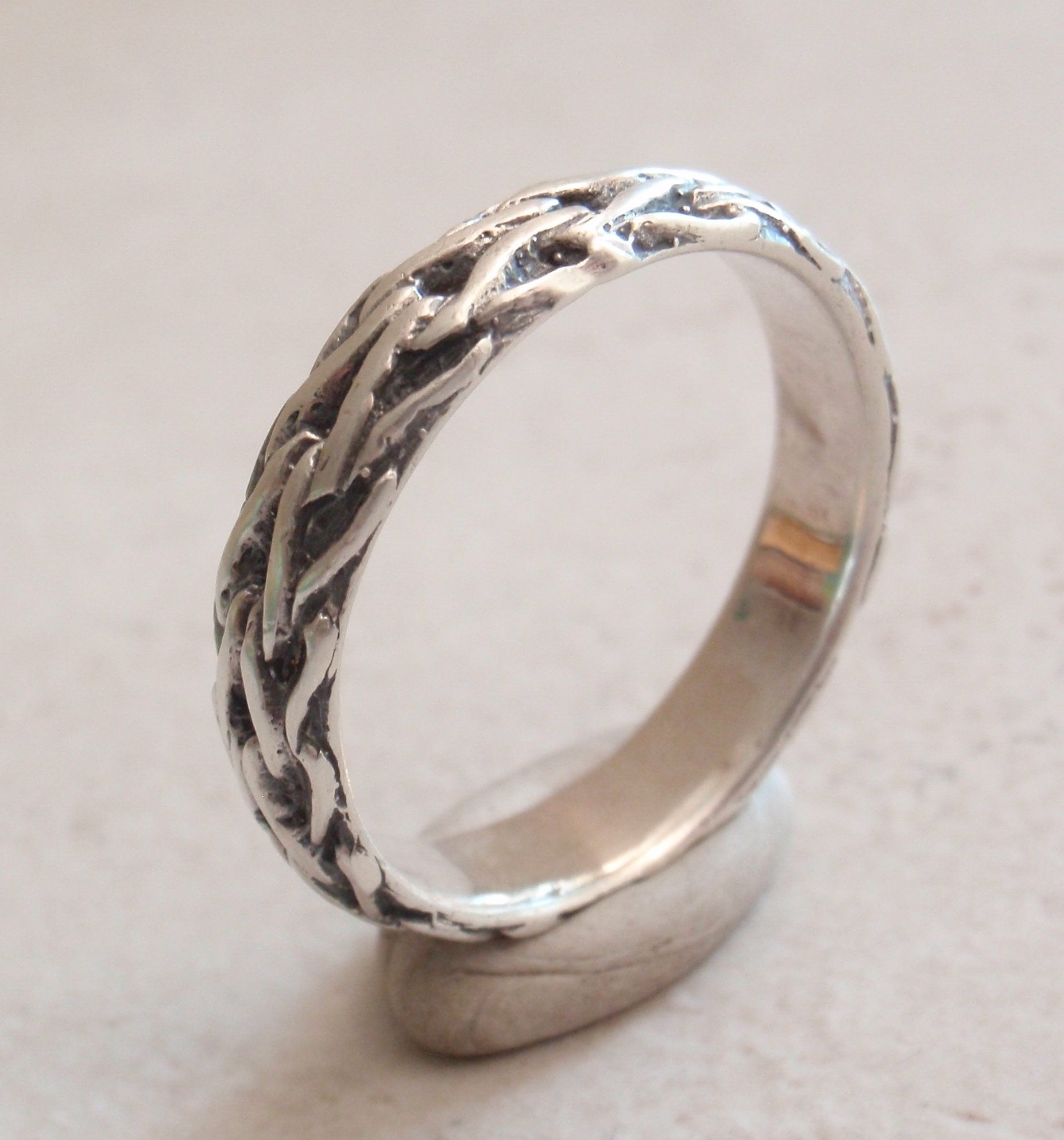 Size 10 Vintage Sterling Silver Chain Ring