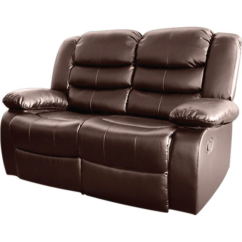 Brown Bonded Leather 2 Seater Recliner Lounge Chair Leather Recliner Lounge Chair Leather Couch