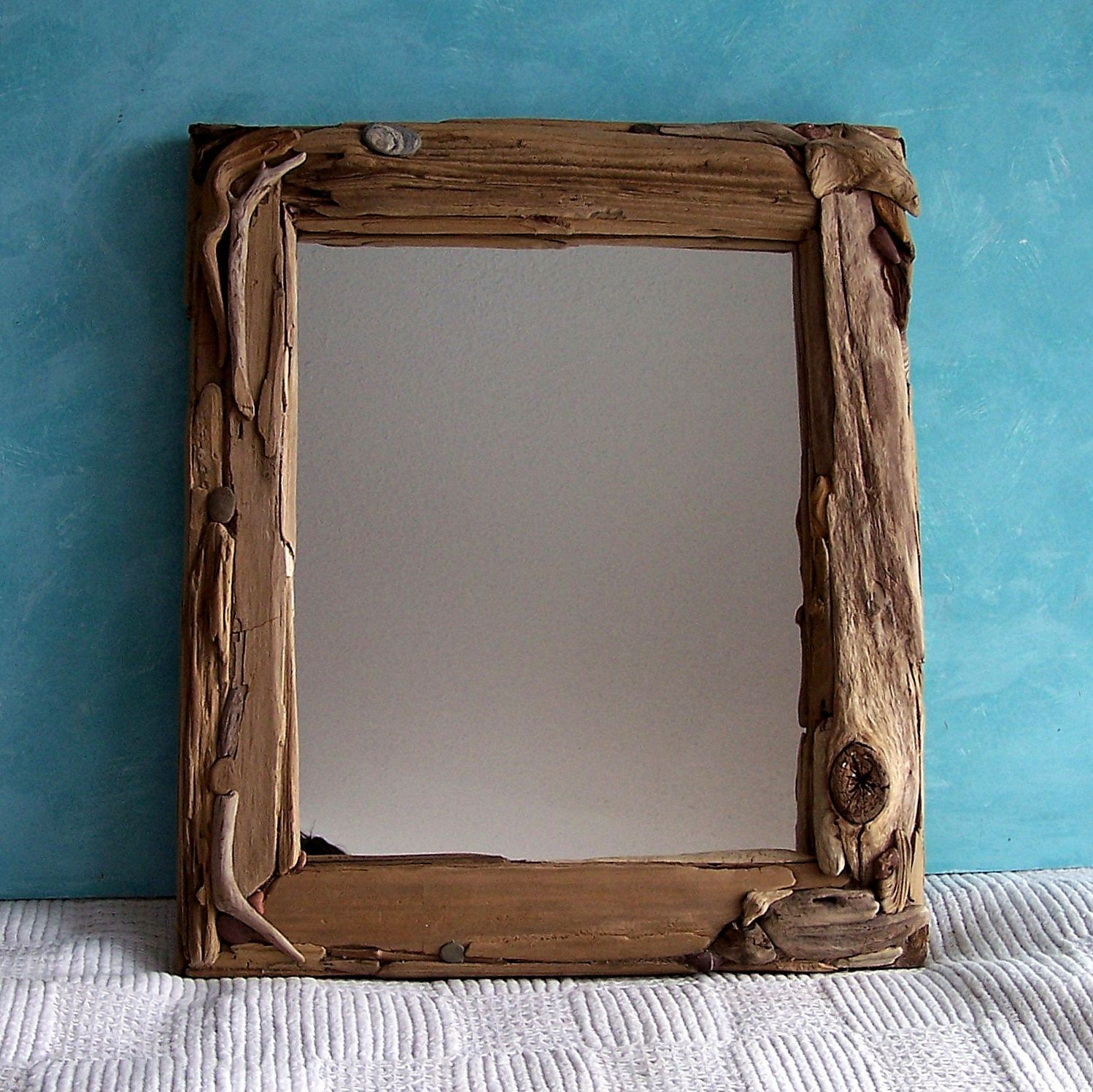 Driftwood Mirror 13 25 x 15 5 Beach Cottage Decor Driftwood