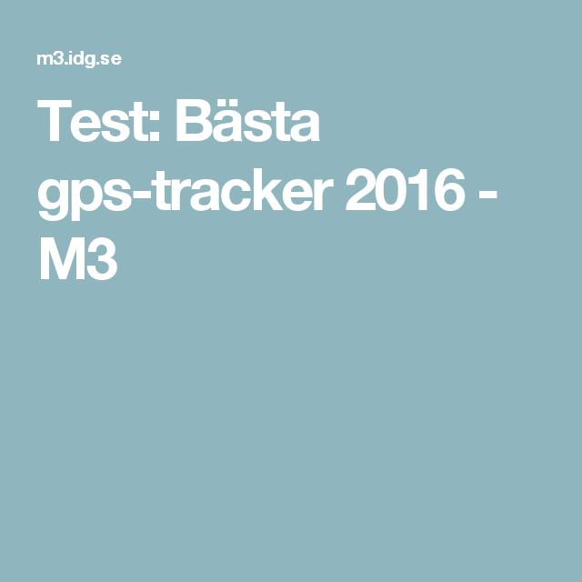 Test: Bästa gps-tracker 2016 - M3