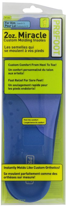 Amazon.com: Profoot 2oz. Miracle Custom Molding Insoles, Men's 8-13, 1 Pair: Health & Personal Care