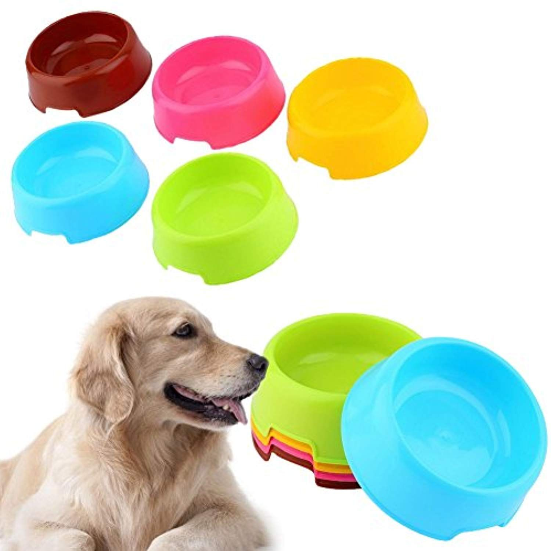 ZEROYOYO 3pcs Pet Supply Plastic Food Feeding Water Dish