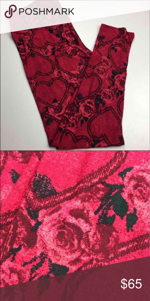 764ea52d9d5de SALE❤️BNWT❤LULAROE OS VALENTINES LEGGINGS! Gorgeous Red Roses and Hearts!  Very Hard to Find Print! Smoke free pet free home. Ships in 24hrs with  tracking ...