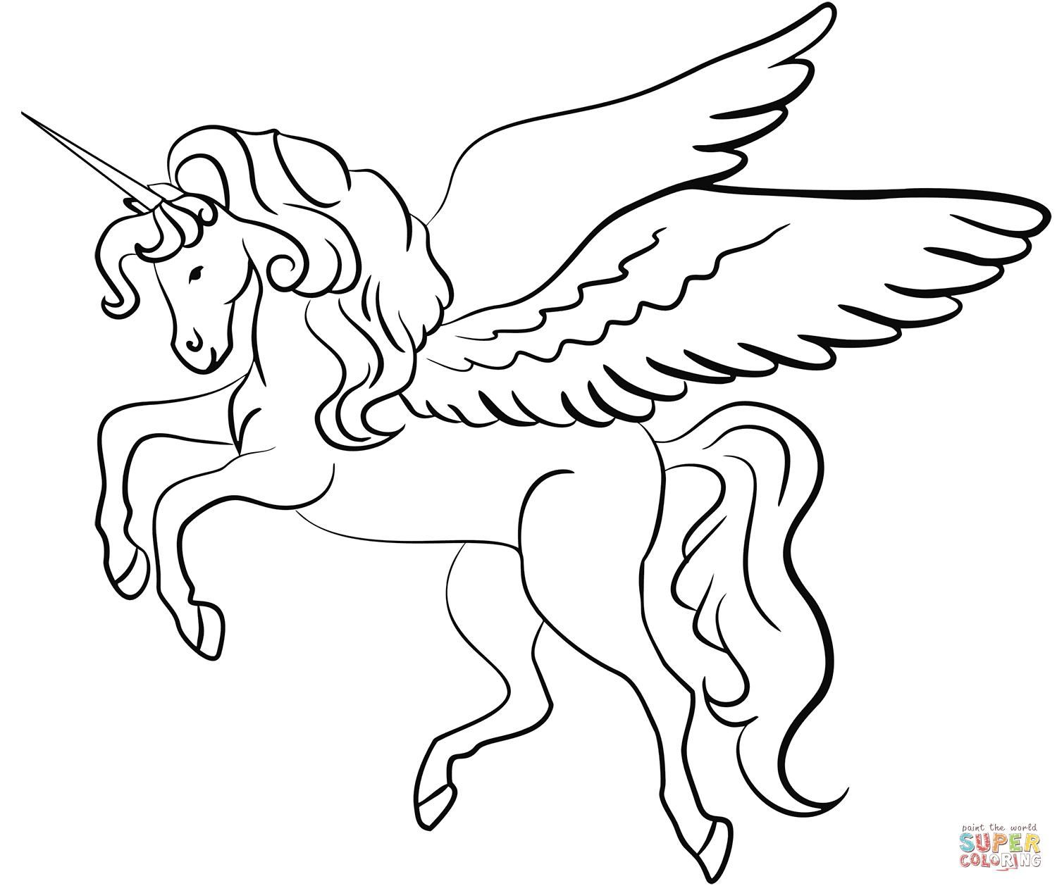 42 Coloring Page Unicorn With Wings Unicorn Coloring Pages Coloring Pages Unicorn Images