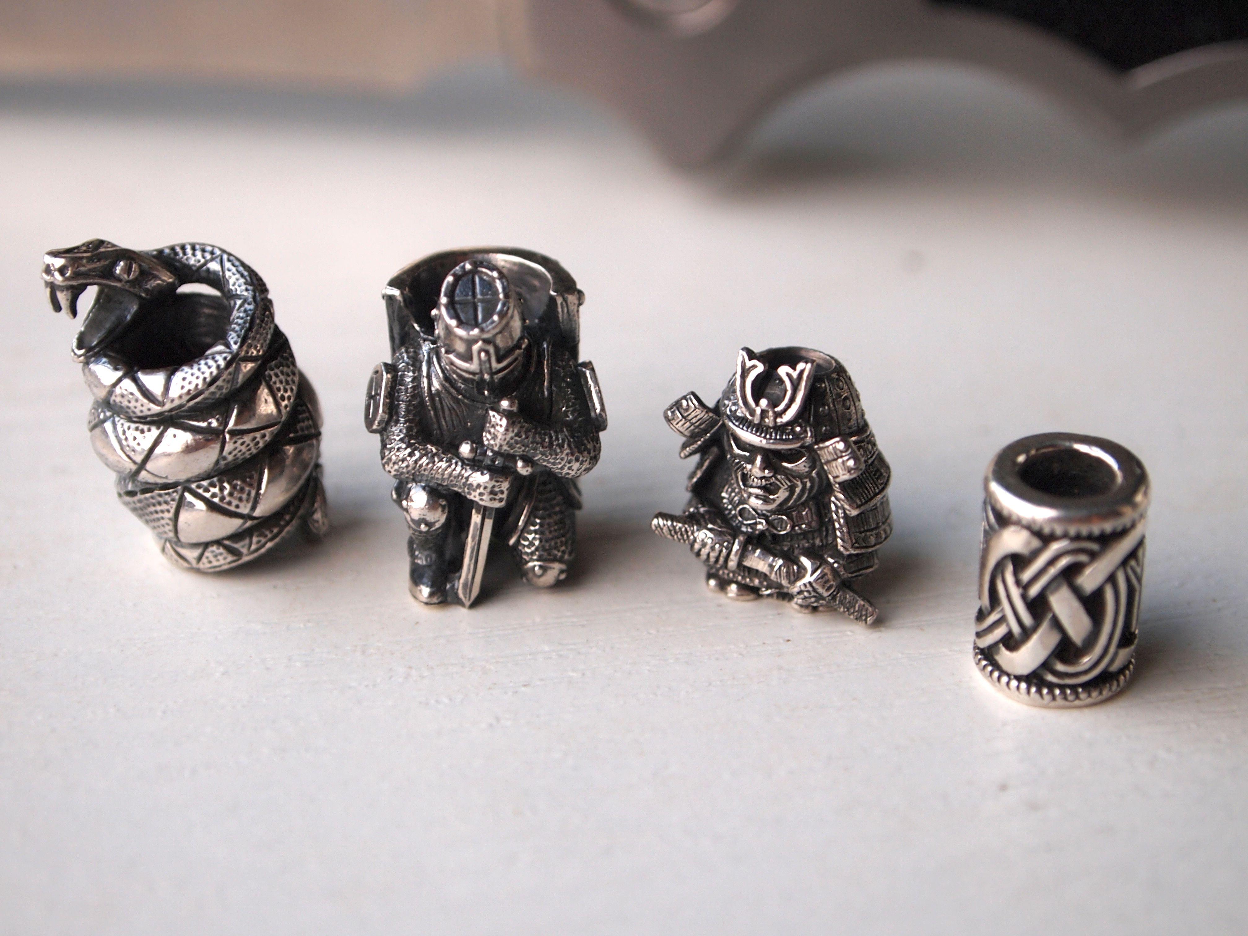 Paracord Lanyard Beads By Nikolai Kuzmin Silver 925 Each 5 7gr