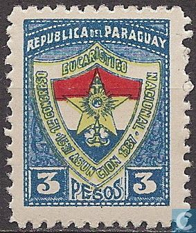 Stamps - Paraguay - 1st Eucharist Congress, Asuncion 1937