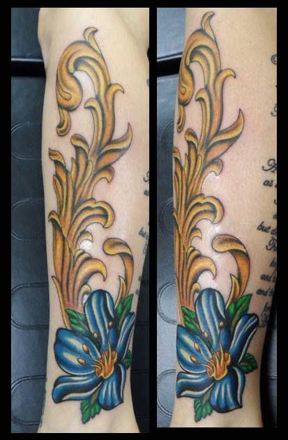 Hyacinth Flower Tattoo : hyacinth, flower, tattoo, Kevinadtattoo, #flower, #hyacinth, #filigree, #custom, Flower, Tattoo,, Tattoos,, Flowers