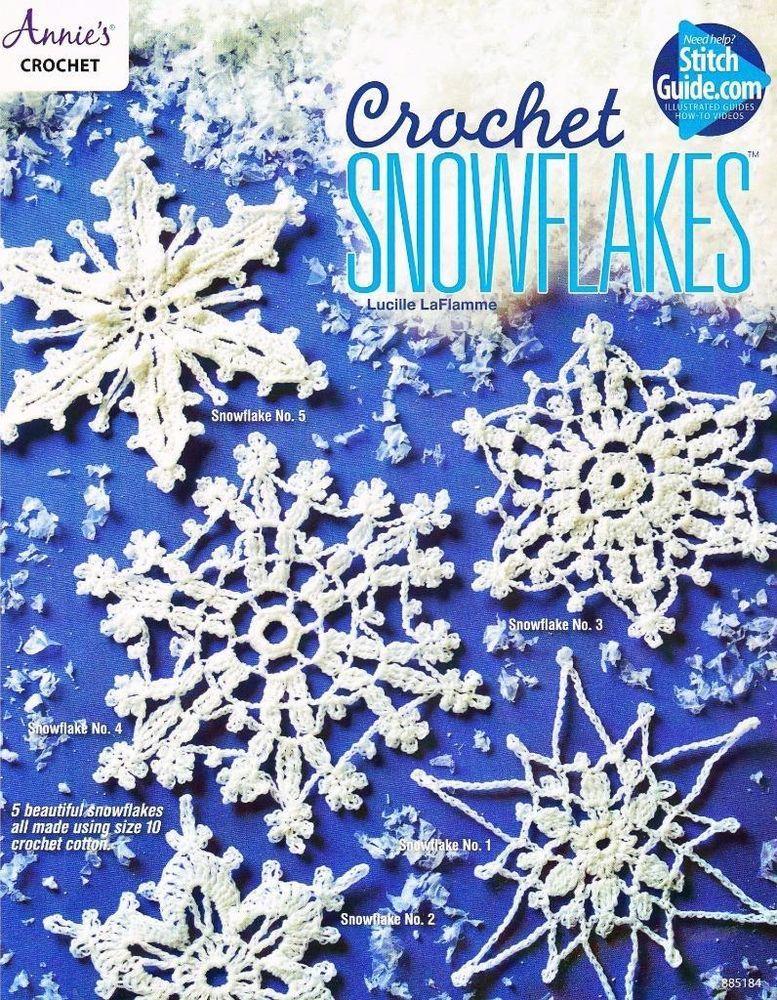 Crochet Snowflakes Annie\'s Crochet Pattern Leaflet #AnniesAttic ...