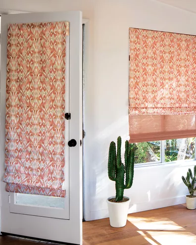 Fabric Roman Shades In 2020 Fabric Roman Shades Shades For French Doors Roman Shades
