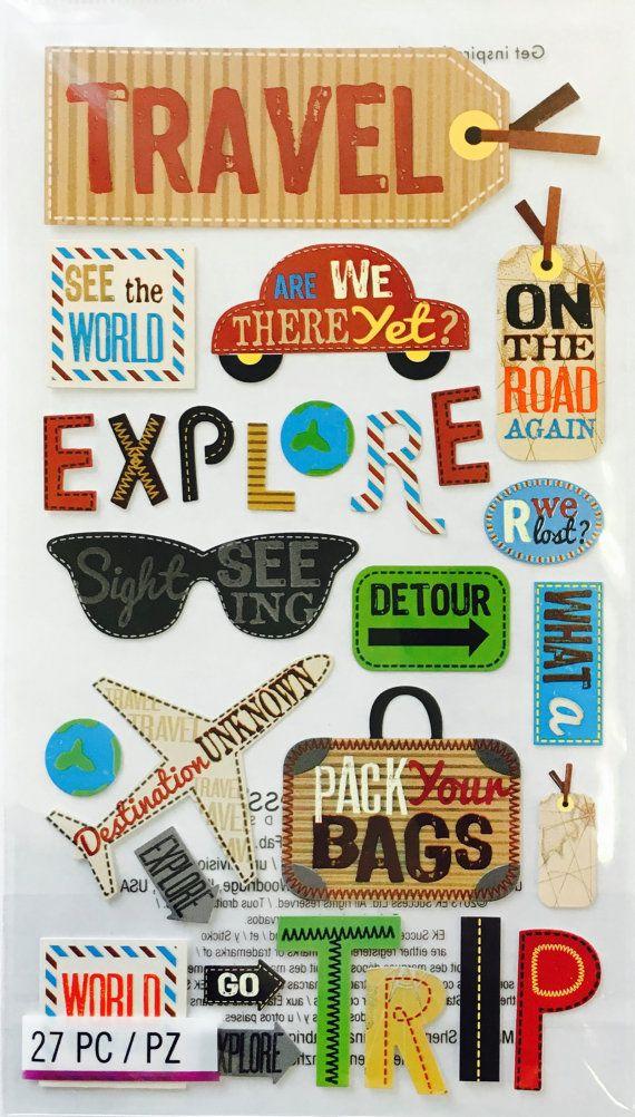Travel Vacation Stickers Planner Invites Envelope Seals