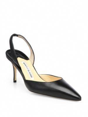 203313eba3 MANOLO BLAHNIK Carolyne Leather Slingback Pumps. #manoloblahnik #shoes # pumps