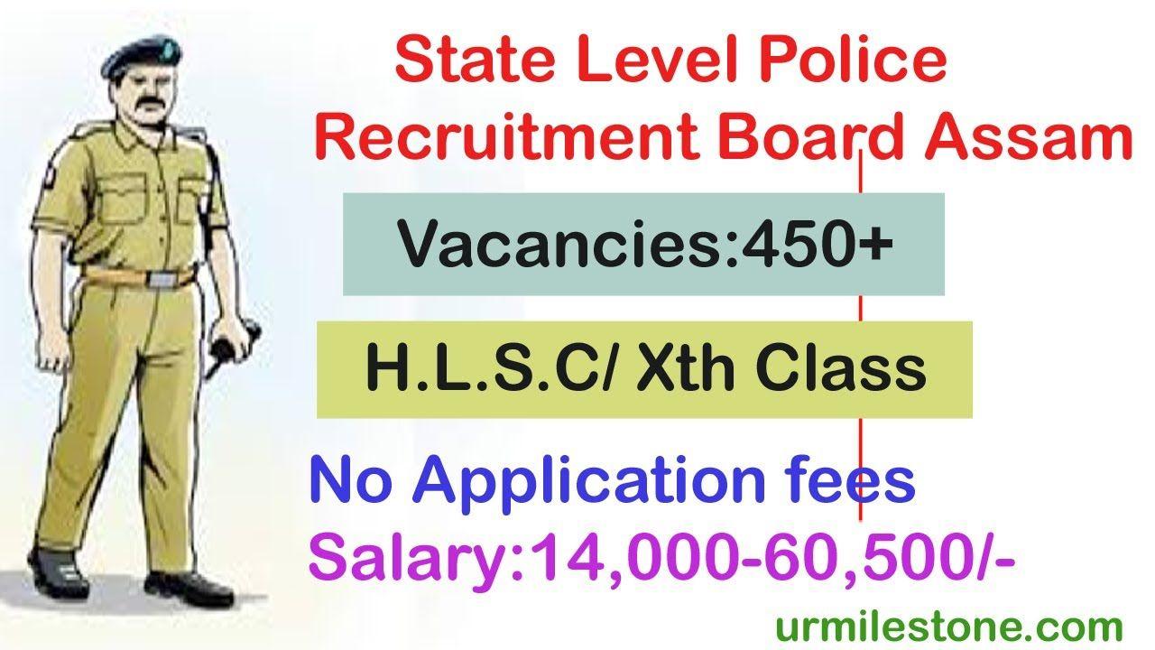 State Level Police Recruitment Board Assam Recruitment