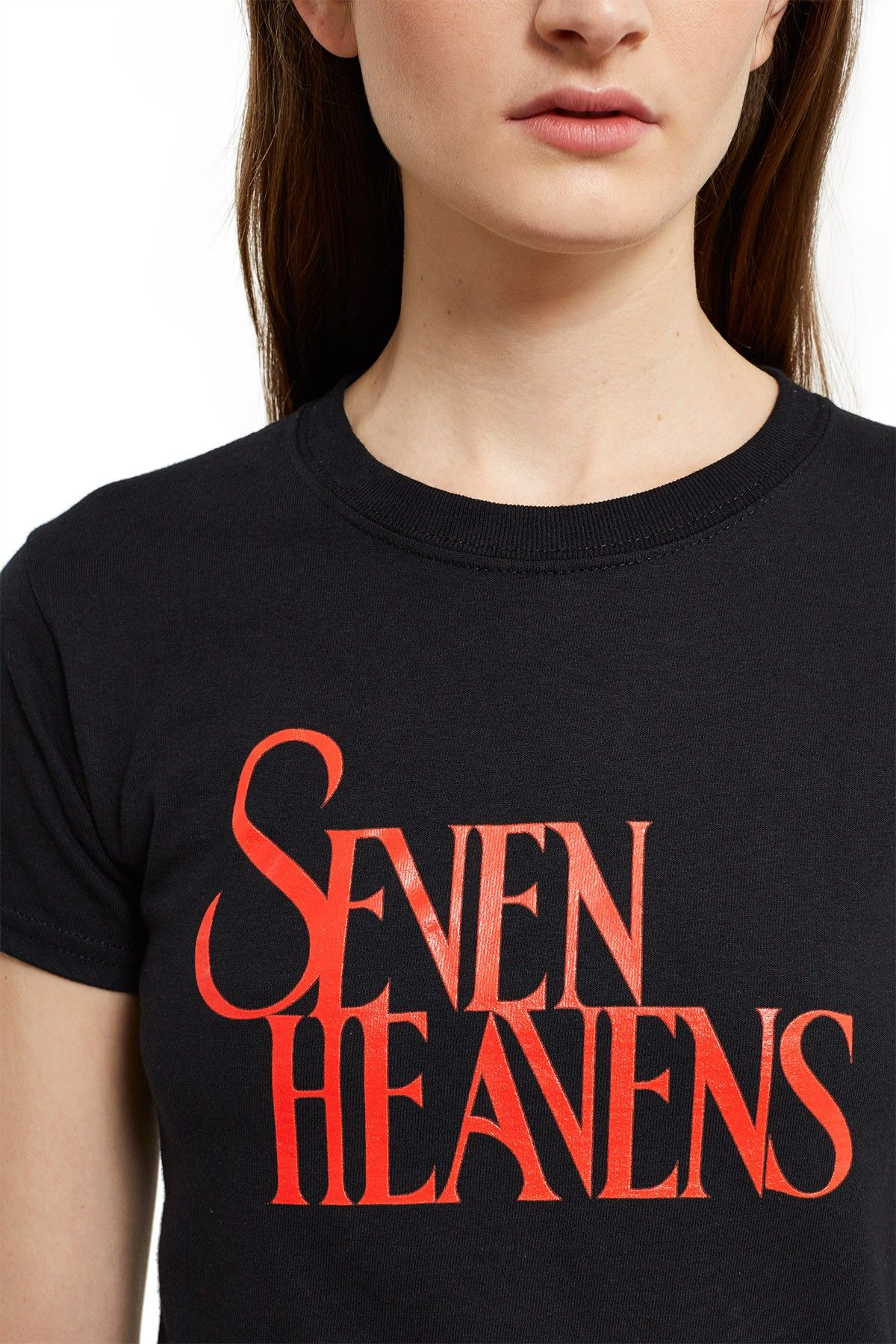 a3c713437 Daisy, Seven Heavens T-Shirt This fitted tee in classic black features the  season's phrase