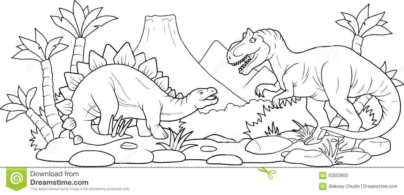 30 Ricerca Dinosauri Che Combattono Da Colorare Dinosauri Pagine Da Colorare Colori