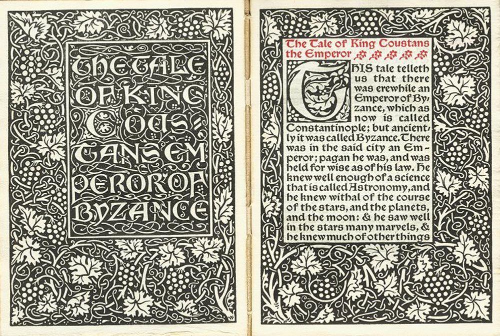 Debe Ser El Trabajo Una Fuente De Arte Y Felicidad Kelmscott Press Historia De La Tipografia William Morris