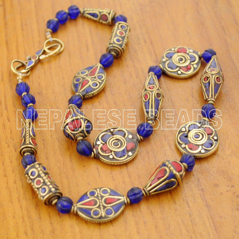 Diy165 tibetan nepalese coral lapis brass do it yourself necklaces diy165 tibetan nepalese coral lapis brass do it yourself necklaces diy kits solutioingenieria Images