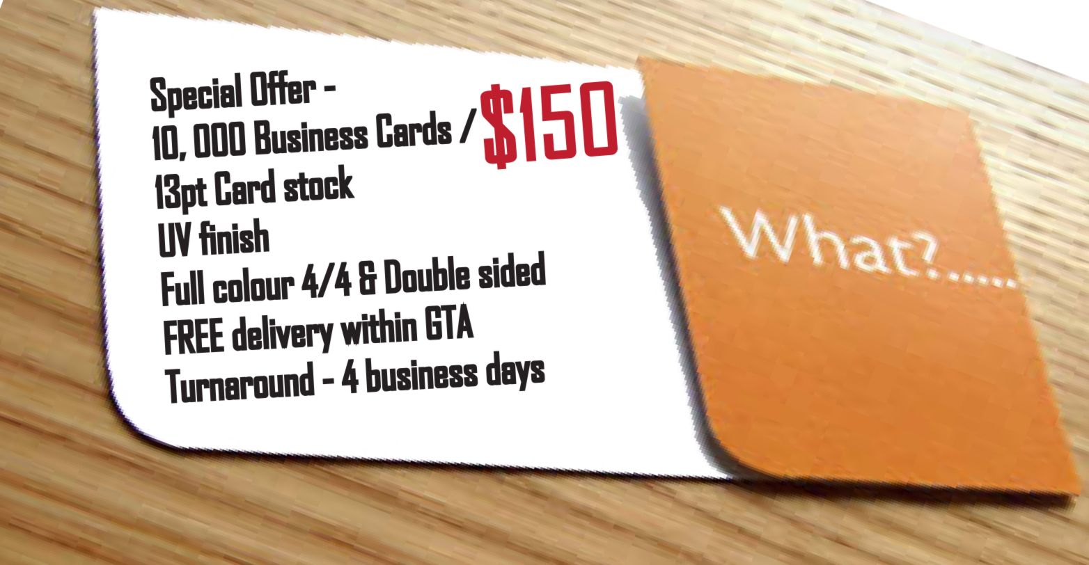 10,000 Business Cards for JUST $150 + FREE delivery within GTA ...